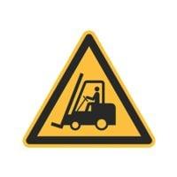 Sicherheitskennzeichen »Warnung vor Flurförderzeugen [W014]« 10 x 10 cm