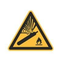 Sicherheitskennzeichen »Warnung vor Gasflaschen [W029]« 10 x 10 cm