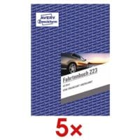 Avery Zweckform 5x Fahrtenbuch »223« (A5 hoch)