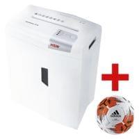 Aktenvernichter HSM shredstar X10, Sicherheitsstufe 4, Partikelschnitt (4,5 x 30 mm) bis 10 Blatt inkl. adidas Fußball »Team Top Replique«