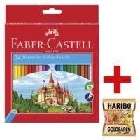 Faber-Castell (Schule) 24er-Pack Buntstifte »Castle« inkl. Fruchtgummi »Goldbären«