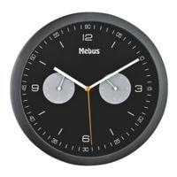 Mebus Quarz-Wanduhr mit Hygro- und Thermometer 16000 Ø 26,5 cm