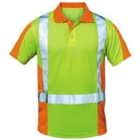 elysee Warnschutz Polo-Shirt Klasse 2 Größe L