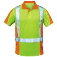 elysee Warnschutz Polo-Shirt Klasse 2 Größe XL