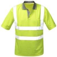 elysee Warnschutz Polo-Shirt Klasse 2 Größe M