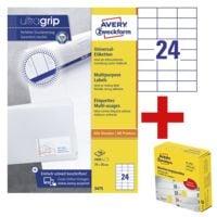 Avery Zweckform 2400er-Pack Universal Klebeetiketten »3475« inkl. Markierungspunkte gelb 19 mm im 250er-Spender