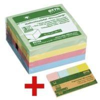 OTTO Office Nature Haftnotizwürfel »Recycling« inkl. Pagemarker »Recycling« 20 x 50 mm