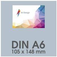 Individualisierbare Flyer A6 1-seitig im Querformat, 250 g/m² glänzend
