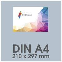 Individualisierbare Flyer A4 1-seitig im Querformat, 170 g/m² glänzend