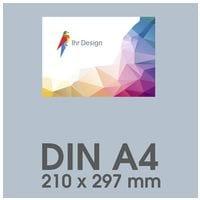 Individualisierbare Flyer A4 1-seitig im Querformat, 250 g/m² glänzend