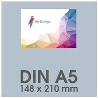 Individualisierbare Flyer A5 1-seitig im Querformat, 170 g/m² matt