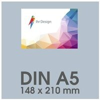 Individualisierbare Flyer A5 1-seitig im Querformat, 250 g/m² matt