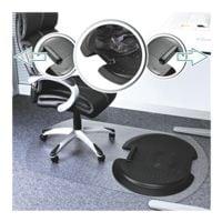 Ergonomiematte für Hartböden, Polyurethan, Sonderform T 96 x 157 cm, Floortex AFS-TEX System 5000s2s