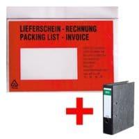 OTTO Office Dokumenten- & Lieferscheintaschen mit Aufdruck C6  1000 Stück inkl. Ordner »Classic«