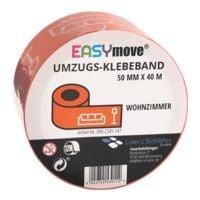 Loer & Schäfer Umzugs-Klebeband EasyMove® Wohnzimmer orange, 50 mm breit, 40 Meter lang