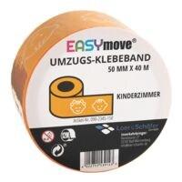 Loer & Schäfer Umzugs-Klebeband EasyMove® Kinderzimmer gelb, 50 mm breit, 40 Meter lang
