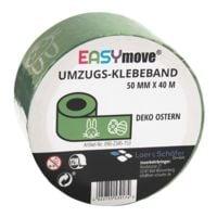 Loer & Schäfer Packband EasyMove® Deko Ostern hellgrün, 50 mm breit, 40 Meter lang