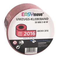 Loer & Schäfer Umzugs-Klebeband EasyMove® Archiv 2016 rot, 50 mm breit, 40 Meter lang