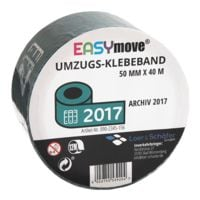 Loer & Schäfer Umzugs-Klebeband EasyMove® Archiv 2017 petrol, 50 mm breit, 40 Meter lang