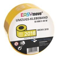 Loer & Schäfer Umzugs-Klebeband EasyMove® Archiv 2018 gelb, 50 mm breit, 40 Meter lang