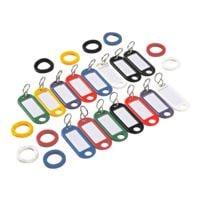 Wedo 25er-Pack Schlüsselanhänger und Kennringe, sortiert