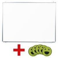 Legamaster Whiteboard emailliert, 90x60 cm inkl. Magnete 7-123301 »Emoticon Fröhlich«