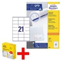 Avery Zweckform 2100er-Pack Universal Klebeetiketten »3481« inkl. Markierungspunkte im 250er-Spender