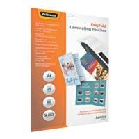 Fellowes 25 Stück Laminierfolien Admire™ EasyFold A4 80 mic