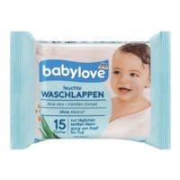 babylove 15er-Pack Feuchte Waschlappen