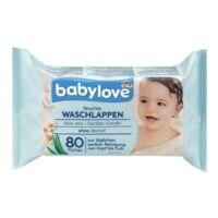babylove 80er-Pack Feuchte Waschlappen
