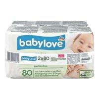 babylove 2er-Pack Feuchttücher »sensitive«