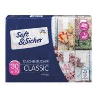 Soft & Sicher 30er-Pack Taschentücher »Classic Design«