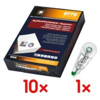 10x Multifunktionales Druckerpapier A4 OTTO Office Premium Superior - 5000 Blatt gesamt inkl. Einweg-Korrekturroller »Mono Air«