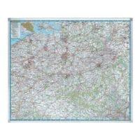 Legamaster Kartentafel »7-613100« Belgien Straßen