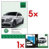 Sigel 5x Fahrtenbuch »FA513« (A5 hoch) inkl. Fahrtenbuch-Einband »EF510« (für A5 hoch)