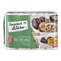 Saugstark & Sicher Küchentücher (halbe Blätter) »Recycling«