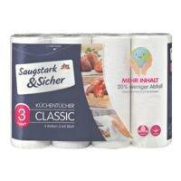 Saugstark & Sicher Küchenrollen 3-lagig, 4 Rollen »Classic«