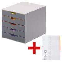 Durable Schubladenbox »Varicolor 5« inkl. Kunststoffregister 5-teilig blanko A4 mit Deckblatt