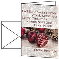 Weihnachtskarte SIGEL Christmas Spirit, A6, mit Umschlag, 10 Stück