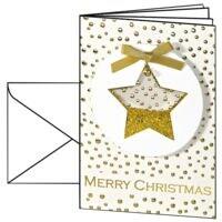 Weihnachtskarte SIGEL Confetti Star DS 059, A6, mit Umschlag, 10 Stück