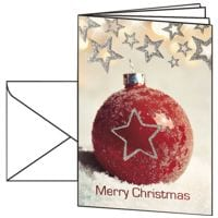 Weihnachtskarte SIGEL Christmas Bauble, A6, mit Umschlag, 10 Stück