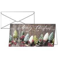 Weihnachtskarte SIGEL Christmas Garland, DIN lang, mit Umschlag, 25 Stück