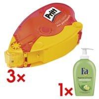 Pritt 3x Kleberoller »Refill non-permanent« inkl. Flüssigseife »Hygiene & Frische«
