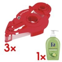 Pritt 3x Nachfüllkassette »Refill permanent« inkl. Flüssigseife »Hygiene & Frische«