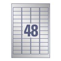 Avery Zweckform Silberne Typenschild-Etiketten 45,7x21,2 mm »L6009-20« 960 Stück