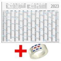 Glocken Wandplaner 2020 Format A4 inkl. Klebefilm »Standard«