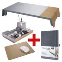 Sigel 3tlg. Schreibtisch-Set »Smartstyle« SA404/400/403 inkl. Notizbuch »Conceptum« A5 kariert