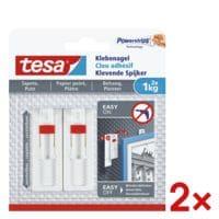 tesa 2x Klebenagel für Tapete und Putz 77774