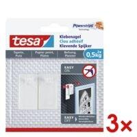 tesa 3x Klebenagel für Tapete und Putz 77772