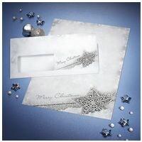 Sigel Weihnachts-Motivpapier »Brilliant Star« DP136 inkl. Weihnachts-Umschlag »Brilliant Star« DU136 - 50 Stück